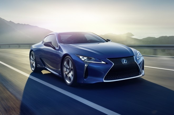 Lexus LC 500h on the road