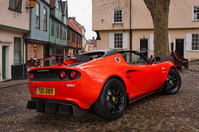 Lotus Elise Cup 250 rear side view