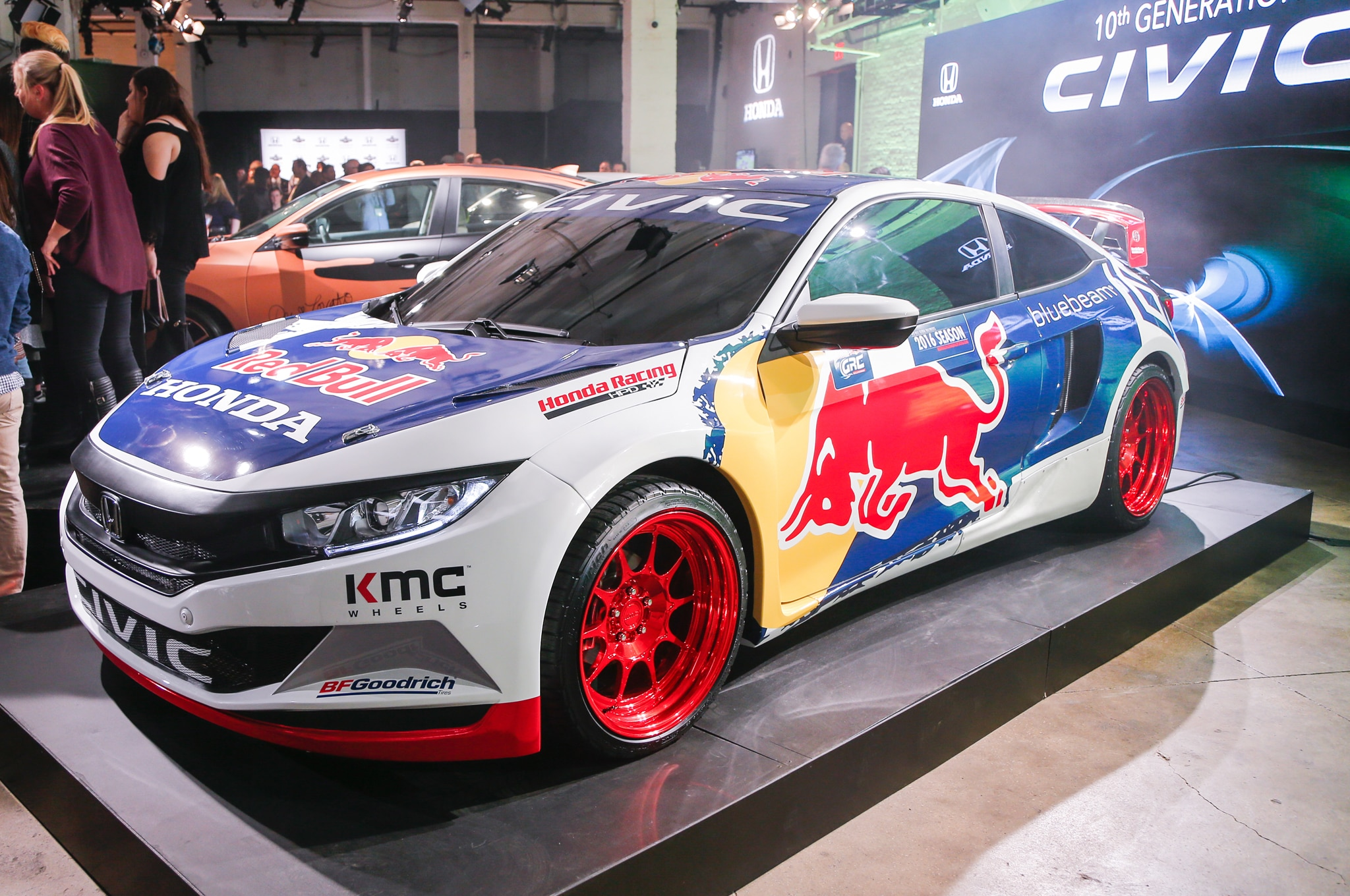 2016 Honda Civic Coupe With Red Bull Racing Livery Front Three Quarter 1