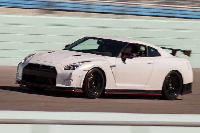 2016 Nissan GT R NISMO front three quarter in motion 02