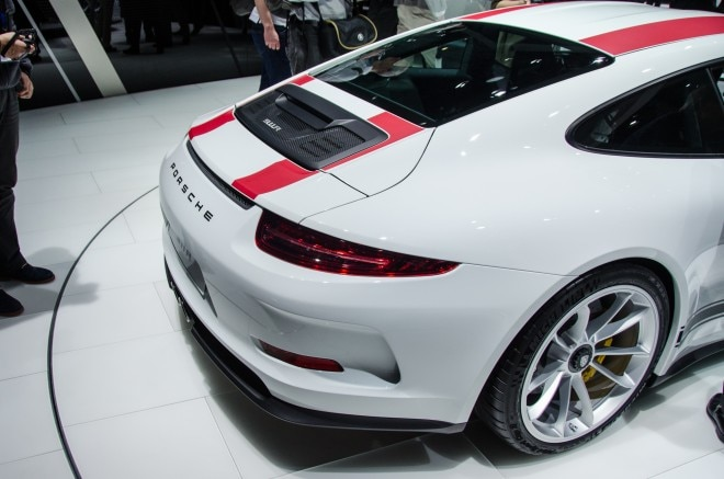 2016 Porsche 911 R rear three quarters