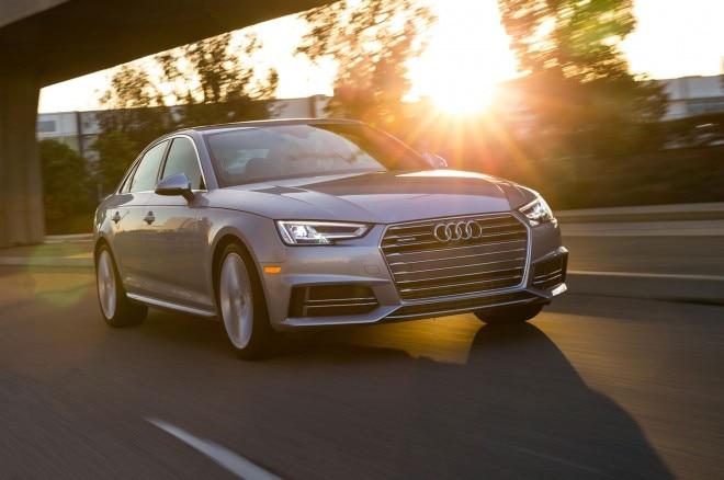 2017 Audi A4 20T quattro front three quarter in motion 07