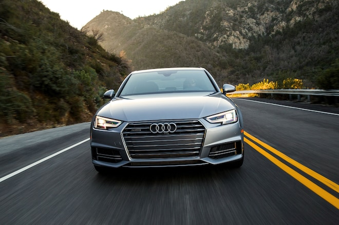 2017 Audi A4 20T Quattro Front View In Motion 02