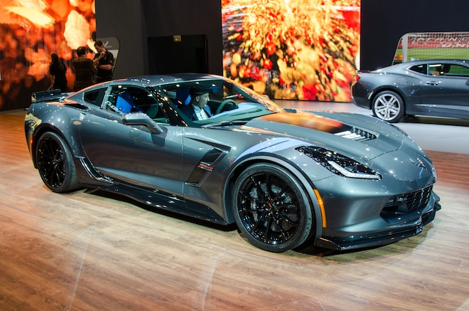 2017 Chevrolet Corvette Grand Sport Front Three Quarters