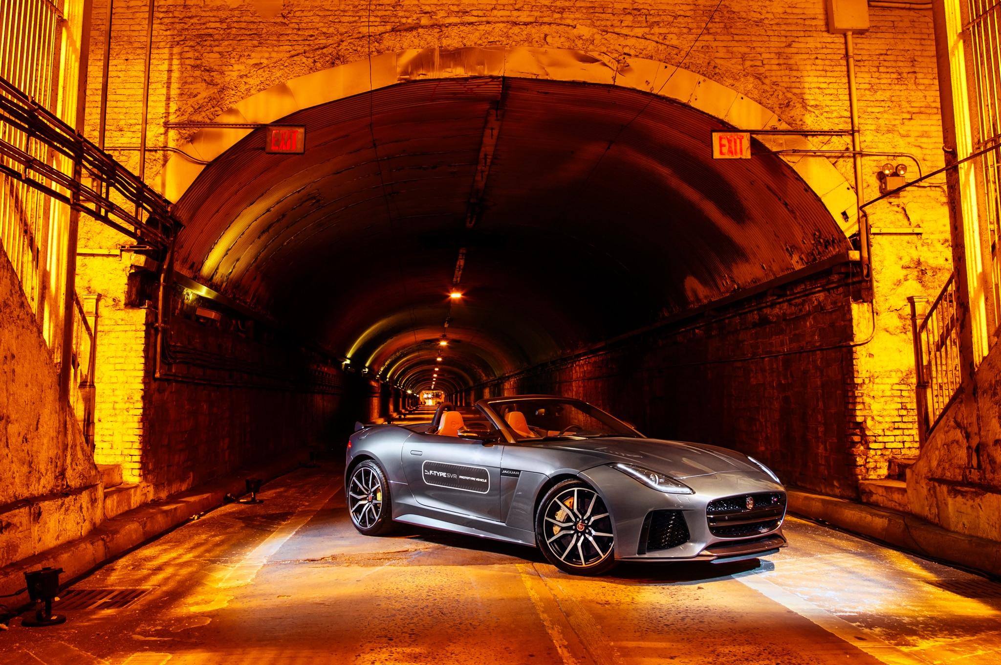 2017 Jaguar F Type SVR Convertible Front Three Quarter 02