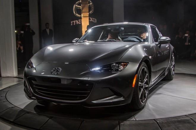2017 Mazda MX 5 Miata RF on stage front view