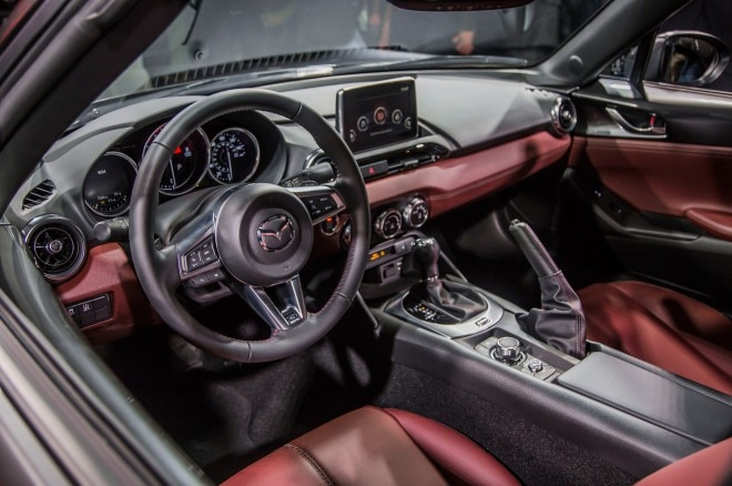 2017 Mazda MX 5 Miata RF on stage interior
