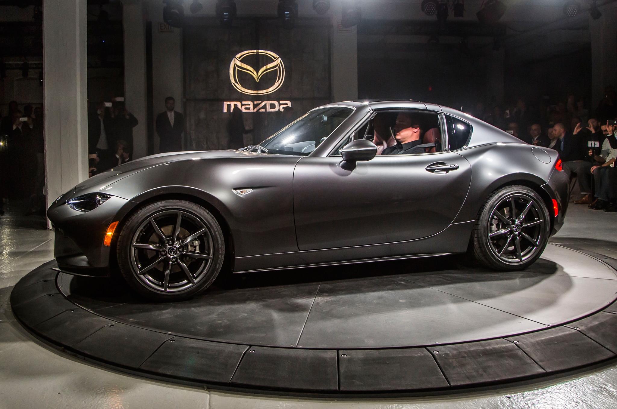2017 Mazda MX 5 Miata RF On Stage Side Front View
