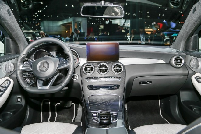 2017 Mercedes Benz GLC coupe interior view