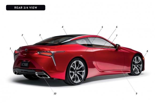 By Design Lexus LC 500 rear three quarter