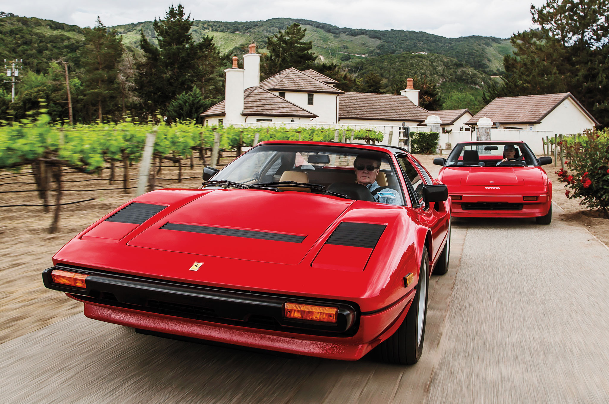 Ferrari Vs Toyota >> When Magnum P I Met Mister Two Ferrari 308 Vs Toyota Mr2
