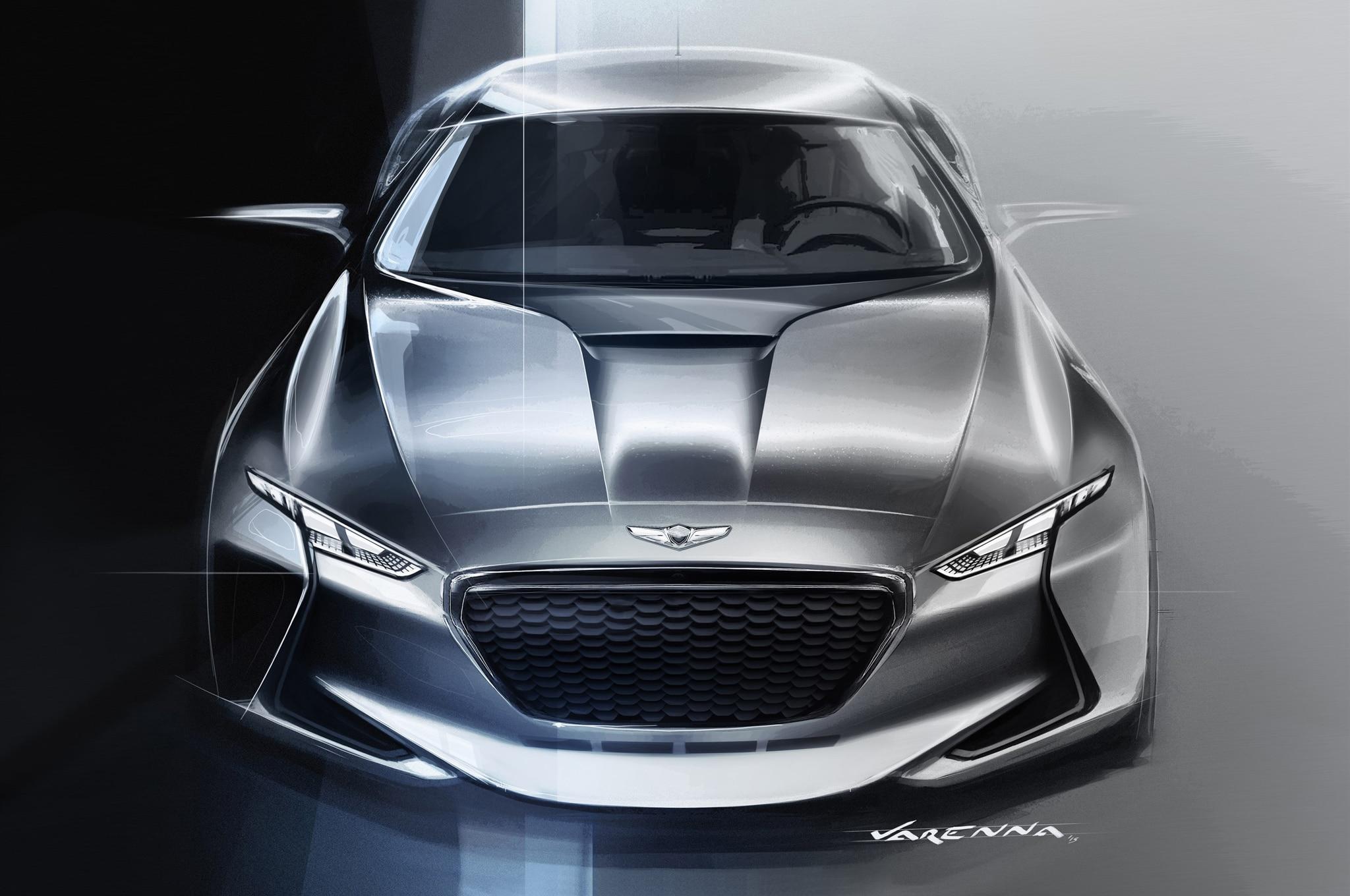 Genesis Car Company >> Genesis New York Concept Previews a Hybrid Sport Sedan ...