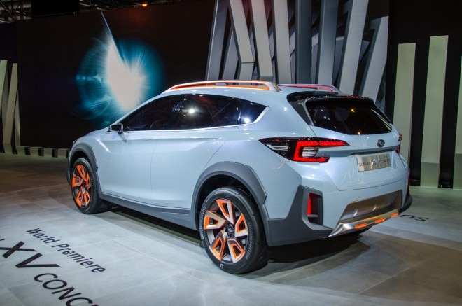 Subaru XV Concept rear three quarters 1