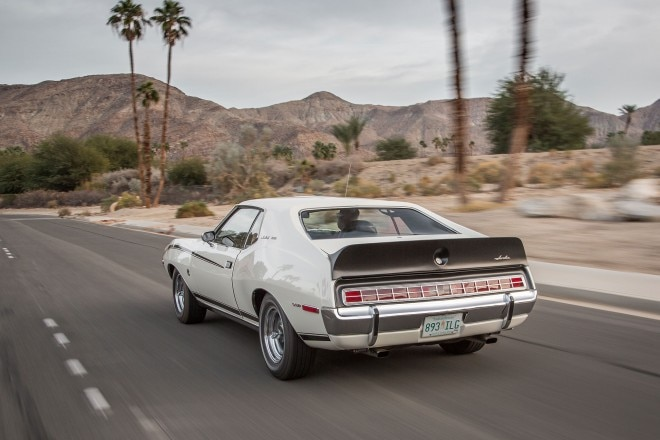 1972 AMC Javelin SST rear three quarter in motion