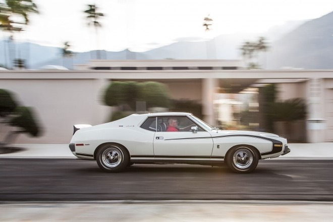 1972 AMC Javelin SST side profile in motion