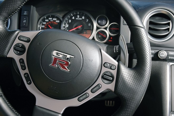 2010 Nissan GT R steering wheel