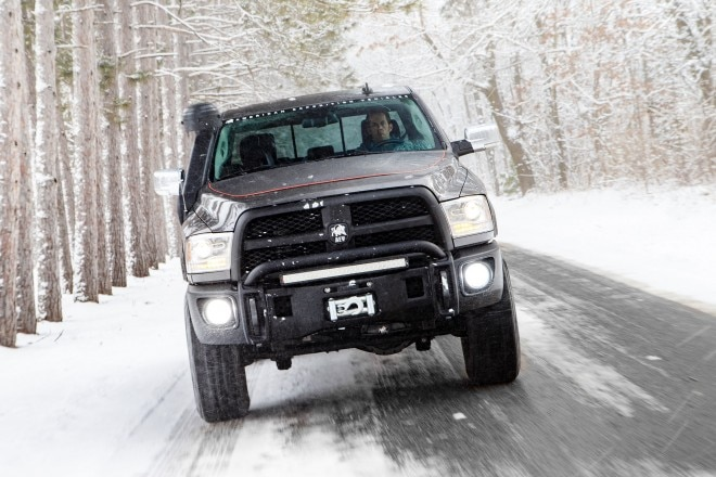 2015 AEV Prospector Ram 2500 Power Wagon front view in motion 03