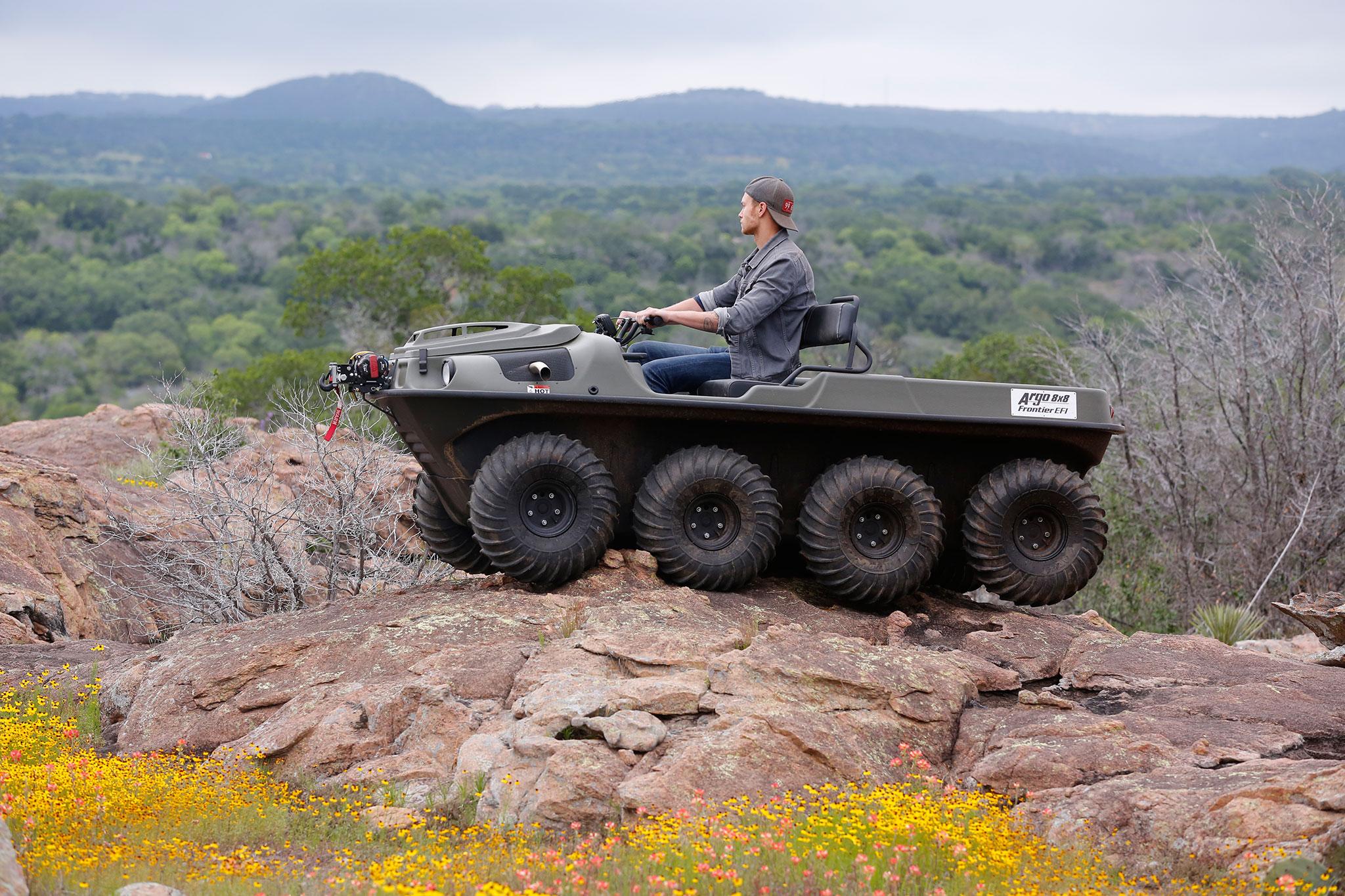 argo atv amphibious 8x8 automobilemag