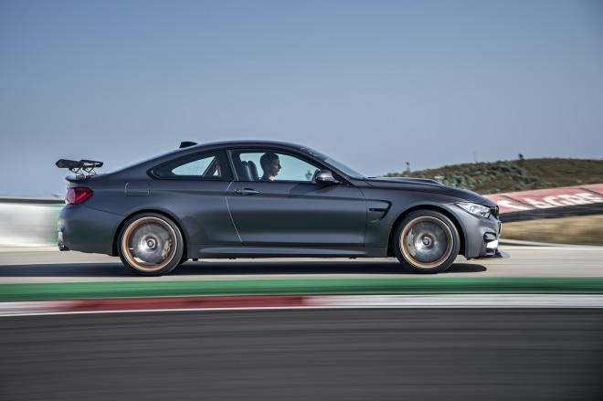 2016 BMW M4 GTS side in motion 02