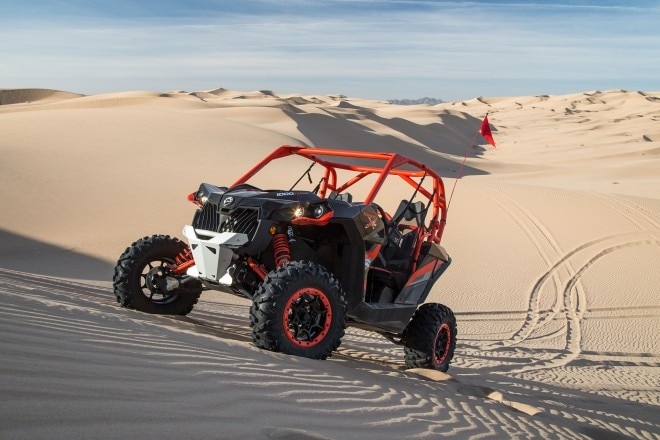 2016 Can Am Maverick X rs Turbo front three quarter 02