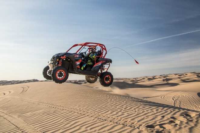 2016 Can Am Maverick X rs Turbo side profile in motion 06
