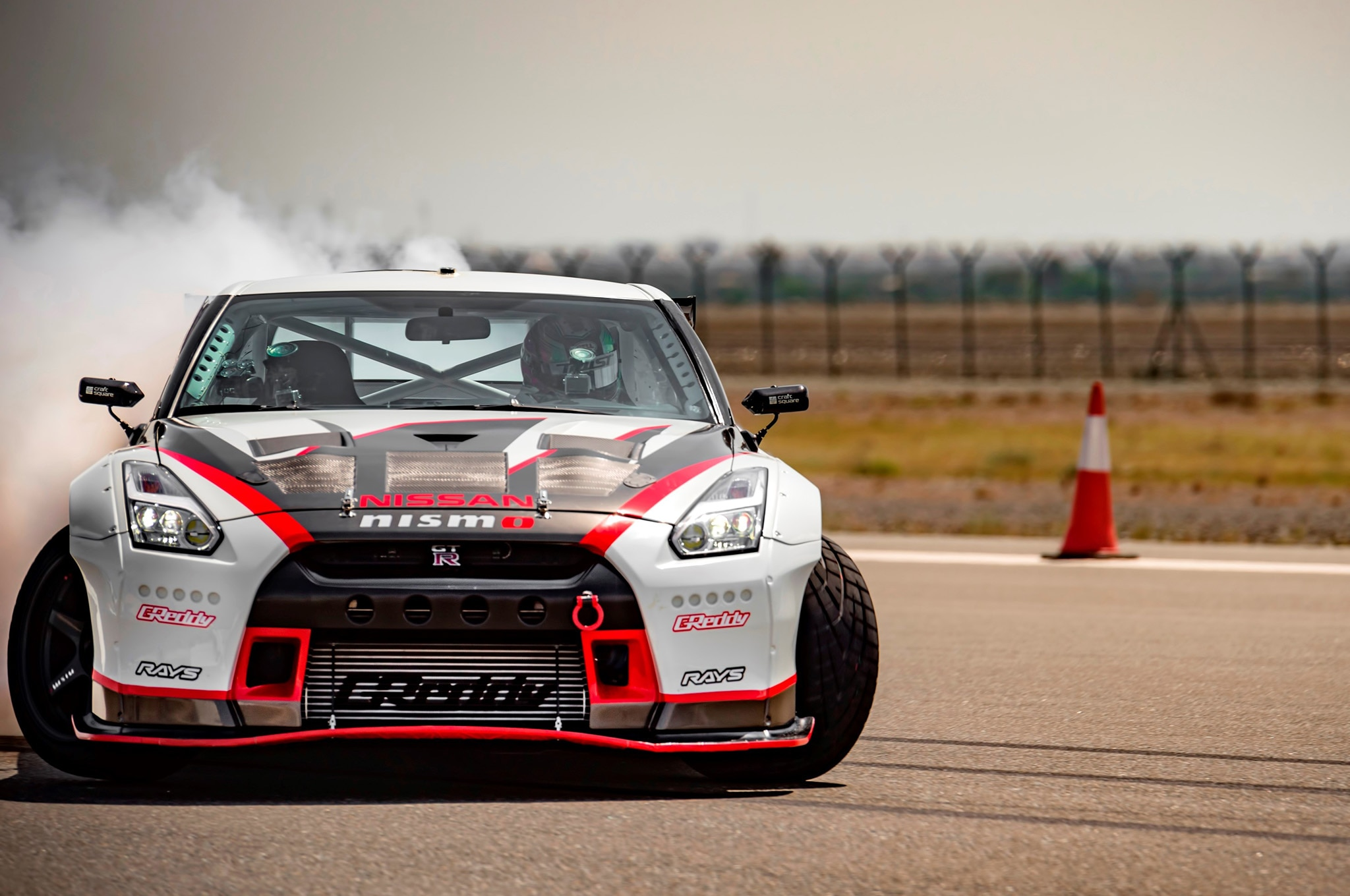 2016 Nissan GT R World Record Drift Front In Motion