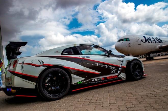 2016 Nissan GT R World Record Drift rear three quarters