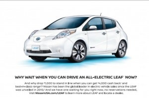 2016 Nissan Leaf Ad
