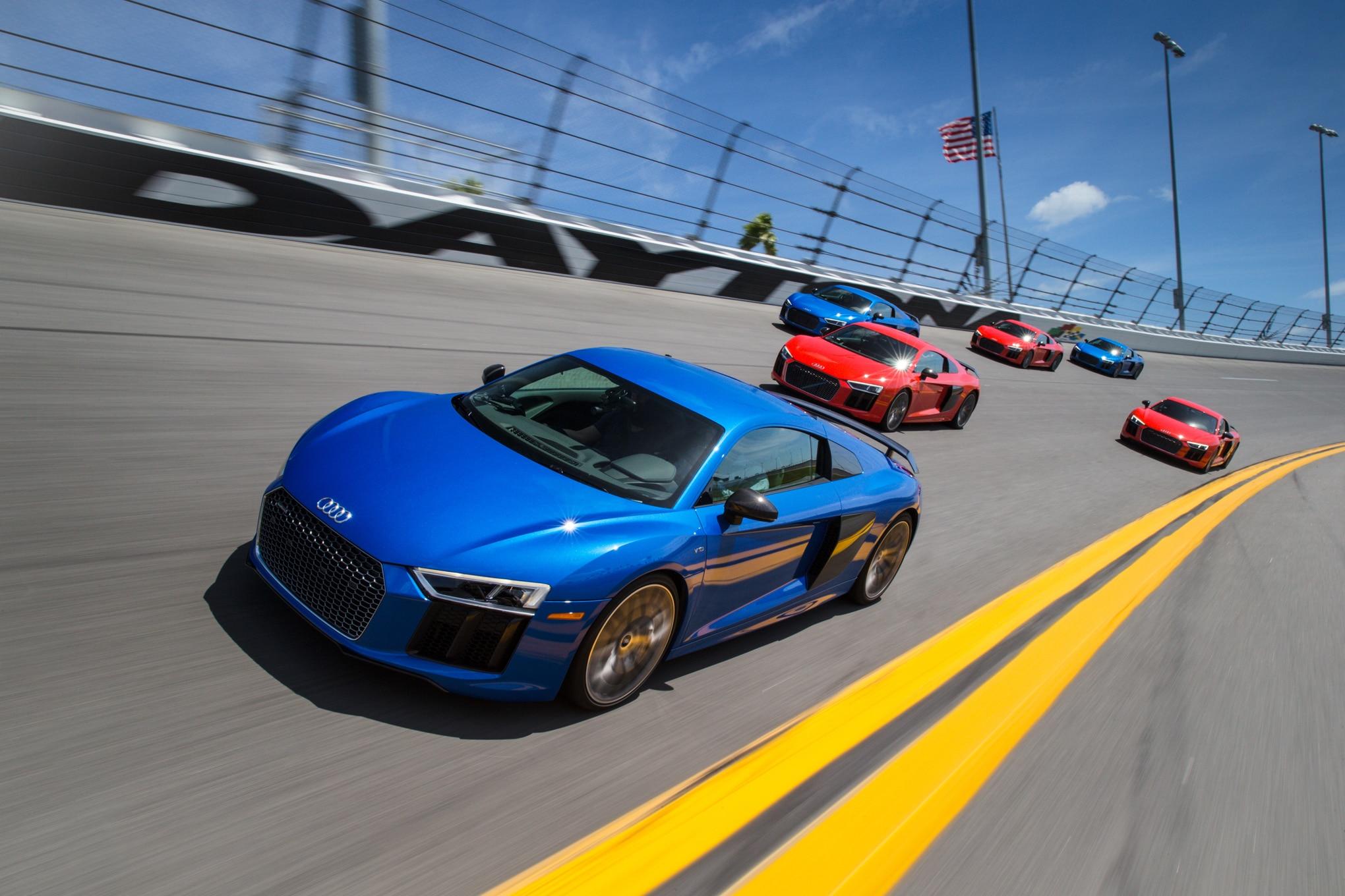 2017 Audi R8 V10 Plus Front Three Quarters Track 04