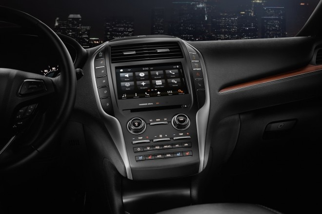 2017 Lincoln MKC interior center stack