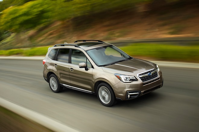 2017 Subaru Forester Front Three Quarter In Motion 03