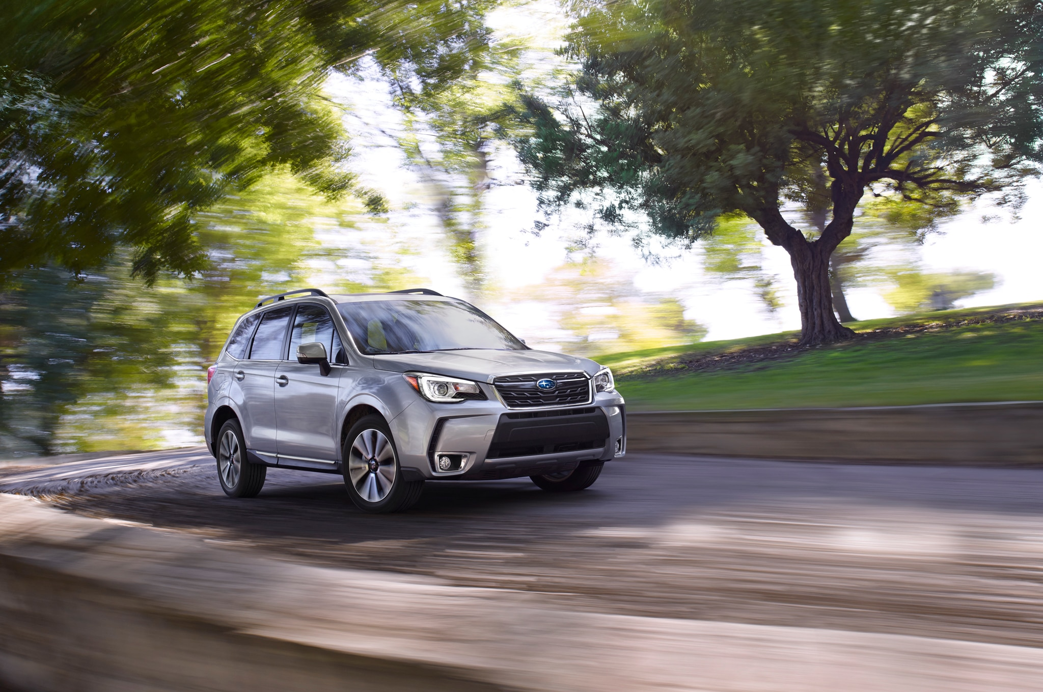 2017 Subaru Forester Front Three Quarter In Motion 1