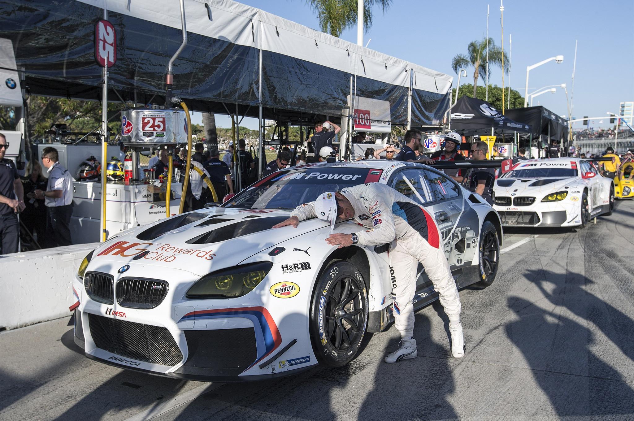 BMW M6 GTLM And Bill Auberlen At LBGP