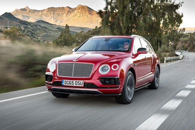 Bentley Bentayga Front Three Quarter In Motion