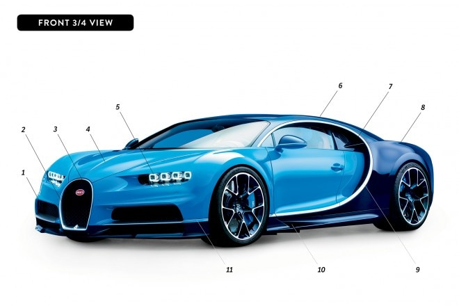 By Design Bugatti Chiron front three quarter