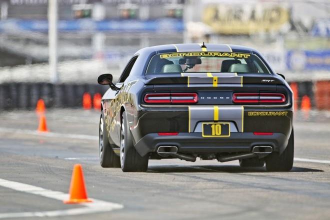 Dodge Challenger SRT Hellcat at Bondurant School rear end in motion 02