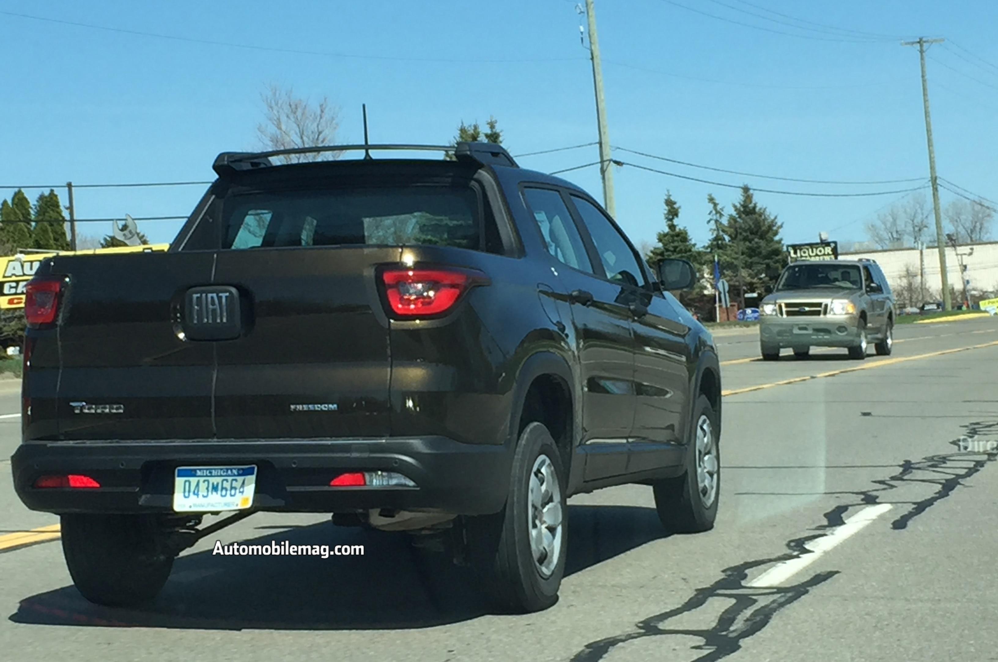 2020 Fiat Toro Release Date, Specs, Price, And Design >> Fiat Toro Pickup Spied On Public Roads In Michigan Automobile Magazine
