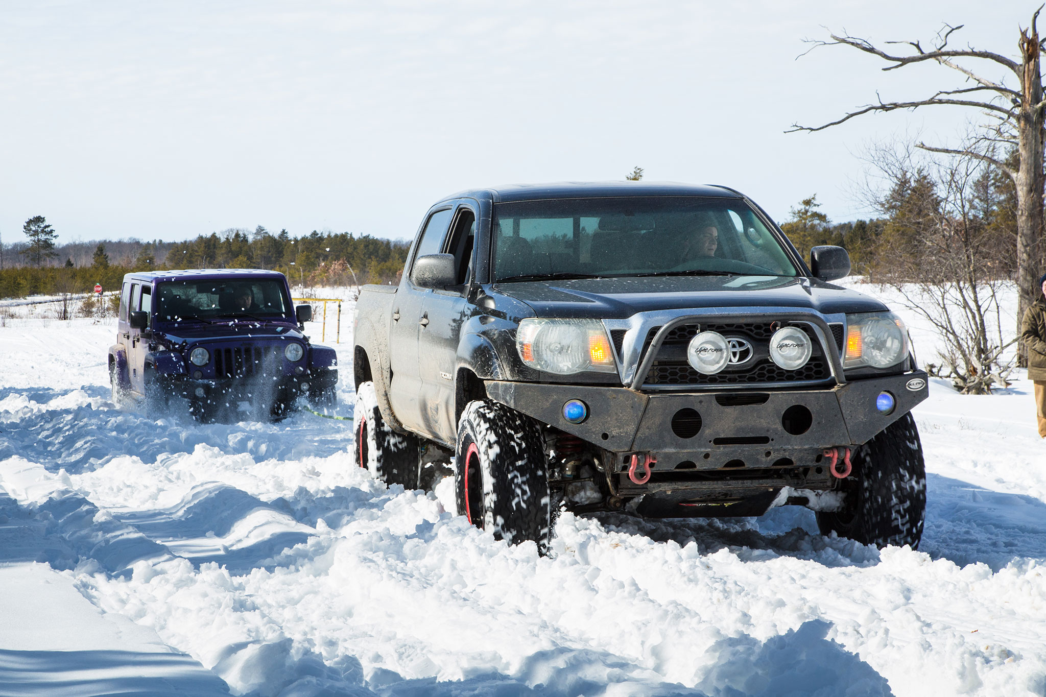 Jeep Wrangler Backcountry Towed In Snow on Jeep Wrangler 4 0 Engine