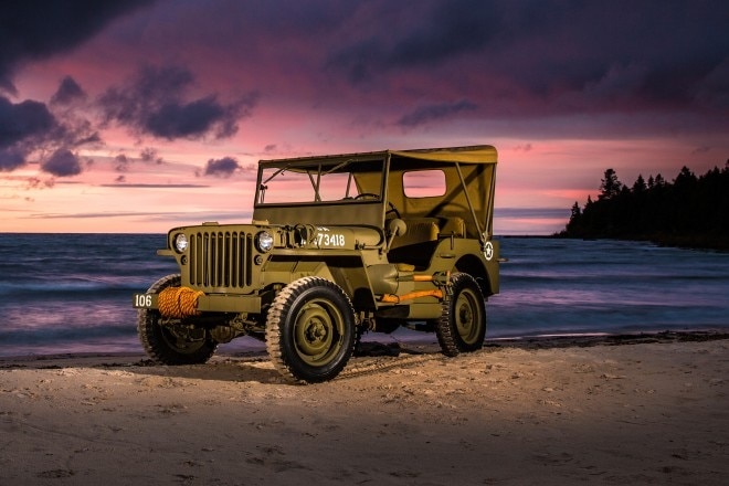 1941 1945 Jeep Willys Overland MB front three quarter