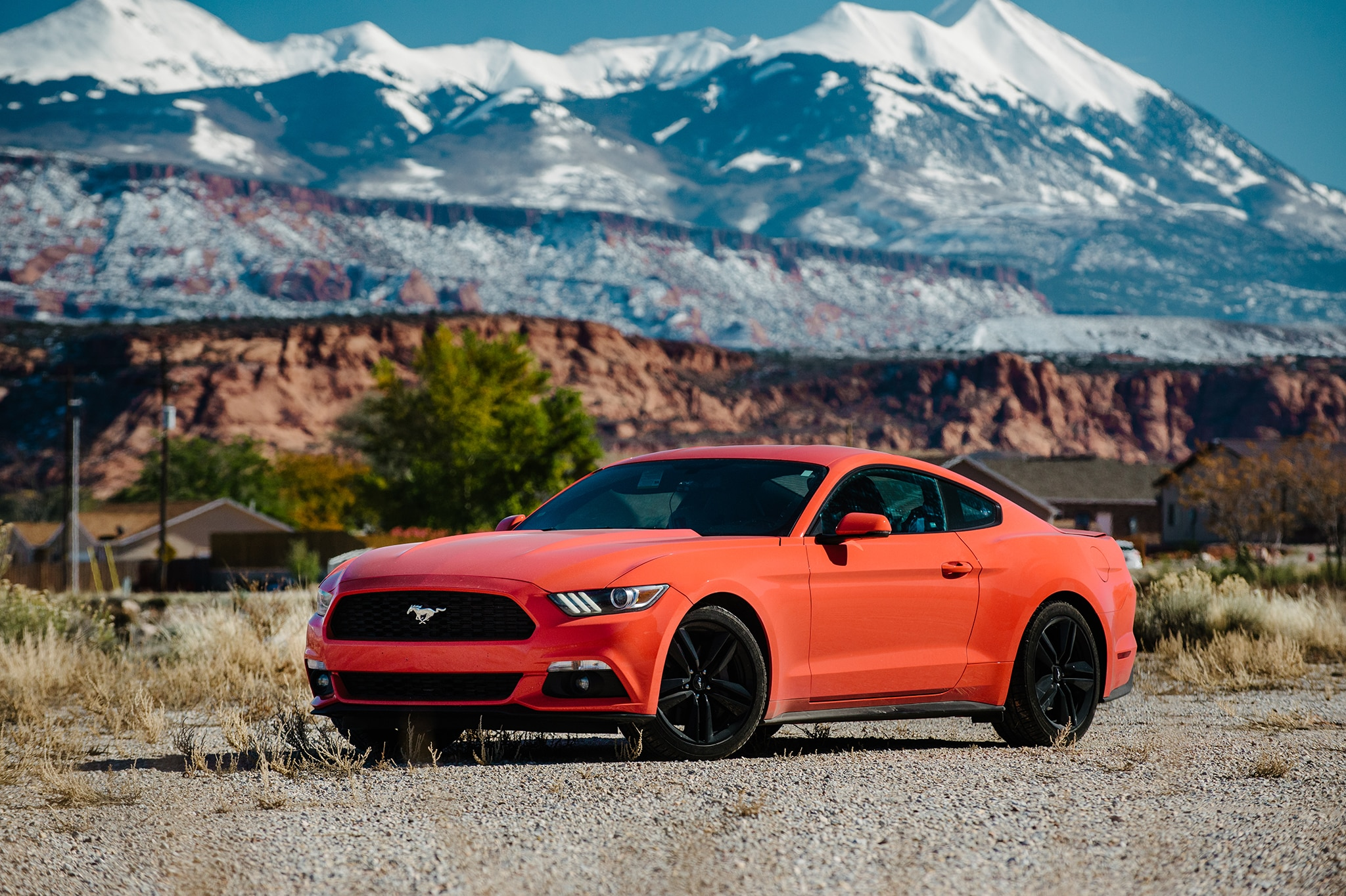 2015 Ford Mustang EcoBoost Premium Front Three Quarter 11