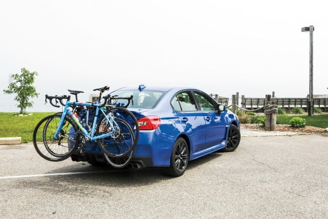 2015 Subaru WRX Limited rear three quarter
