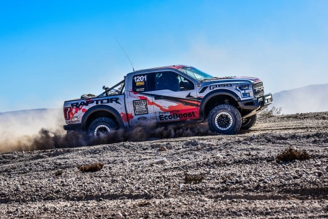 2016 Ford F 150 Raptor side profile in motion