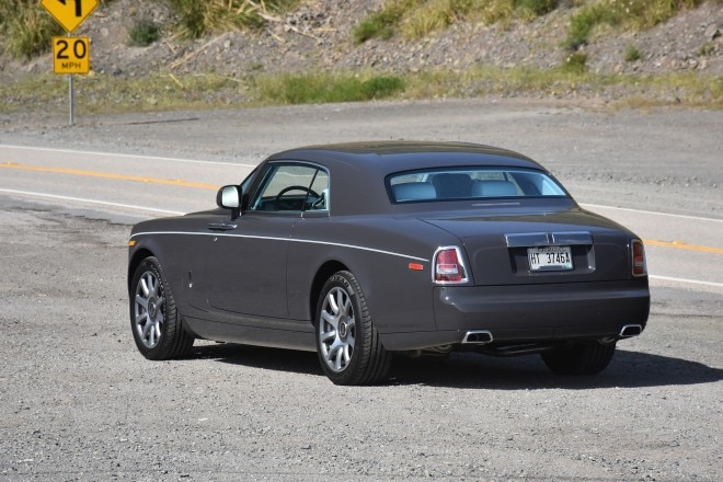 2016 Rolls Royce Phantom Coupe rear three quarter 04