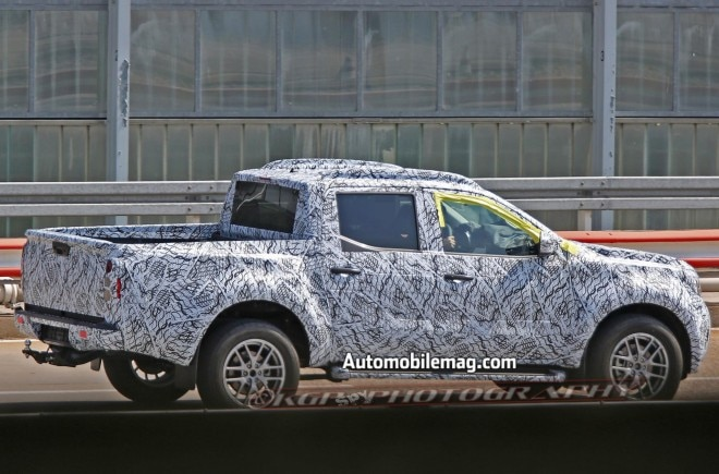 Mercedes Benz Pickup Truck prototype spied rear three quarter4