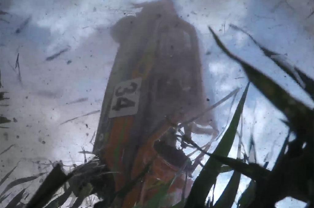 Rally Car Flipping In Dashcam Video