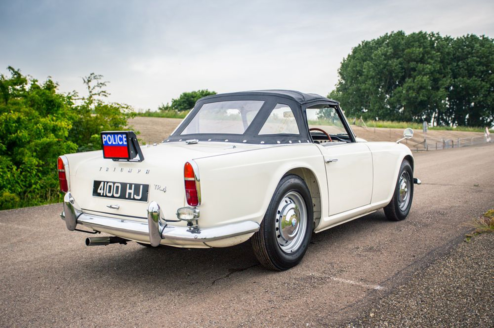 This Police Spec 1962 Triumph Tr4 Is The Coolest Pursuit Vehicle We