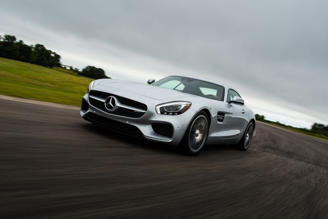 2016 Mercedes AMG GT S front three quarter in motion 01