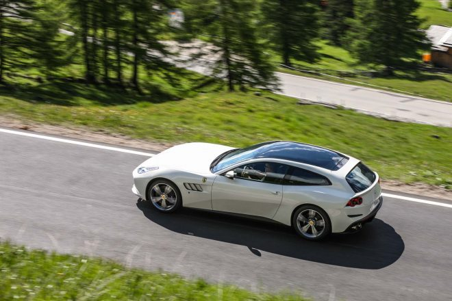 2017 Ferrari GTC4Lusso top view in motion