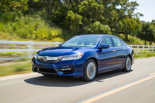 2017 Honda Accord Hybrid Front Three Quarter In Motion