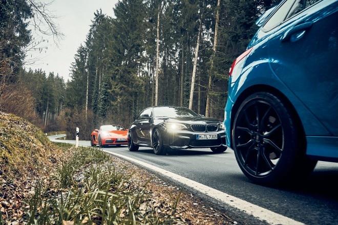 BMW M2 vs Ford Focus RS vs Porsche 718 Boxster S 09